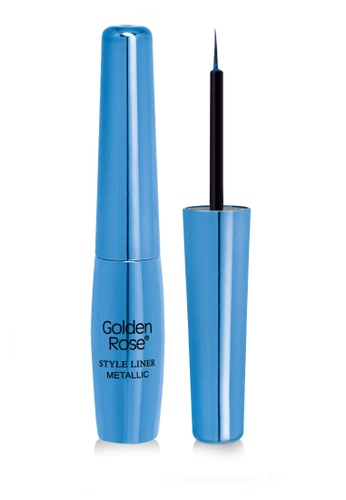 GOLDEN ROSE blue Metallic Style Liner - 17 GO743BE23DYQMY_1