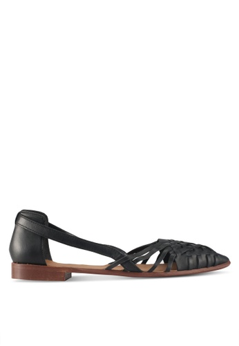 TOPSHOP black Abstract Pointed Shoes A1D5ESHB04A4E6GS_1