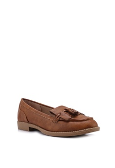1842f3a4a77 Dorothy Perkins Tan Pu Laurie Loafers RM 159.00. Sizes 4 6 7