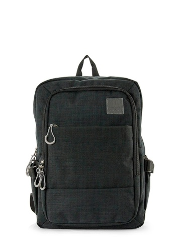 SEMBONIA black SEMBONIA Men Canvas Backpack (Black) 12185AC64C1DE7GS_1