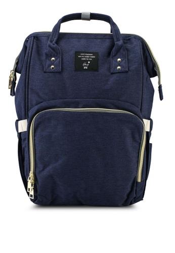 Bagstationz navy Travel Diaper Backpack 7C5C2AC291E3DEGS_1