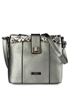 BELLEZZA silver Floral sling bag E1BCDAC3E0CB0BGS_1