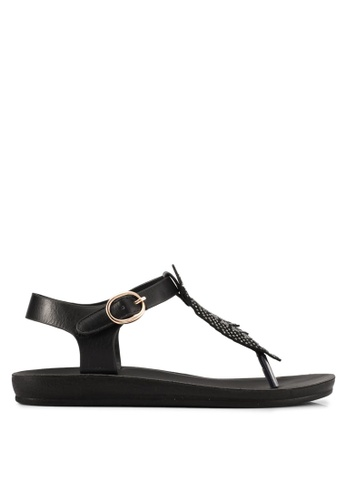 Noveni black Embellished Sandals NO978SH0S9R4MY_1