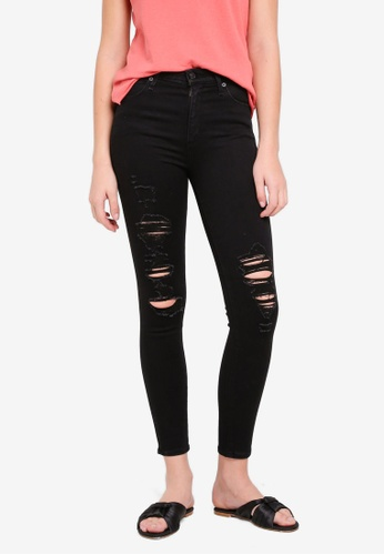 Abercrombie & Fitch black Black Shred Simone Jeans 49442AA07CD3E2GS_1