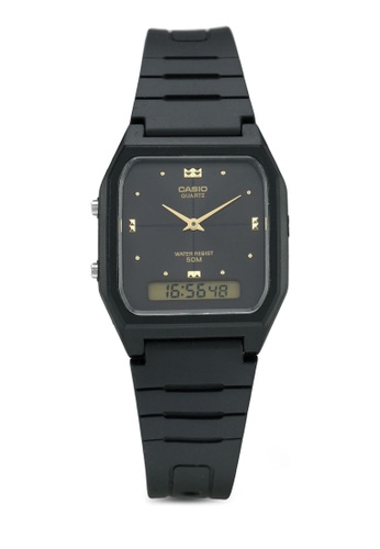 Casio black Casio Watch AW-48HE-1AVDF BE803ACB7AED58GS_1