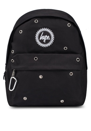 Just Hype black Carabiner Backpack 9C8C1AC392EE0AGS_1
