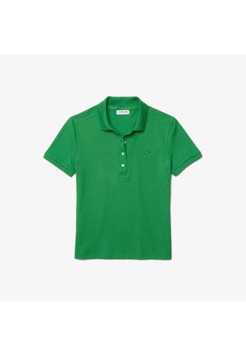 Lacoste green Women's Lacoste Slim fit Stretch Cotton Piqué Polo Shirt 3F7B5AA041EC03GS_1