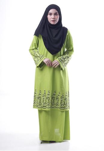 Denai Boutique green Baju Kurung Toyyib 3A980AADAED2AAGS_1