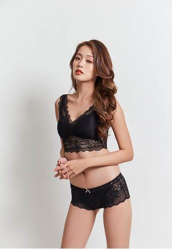 Celessa Soft Clothing black Seine - Double V Lace Bratop 506BDUS24D7022GS_1