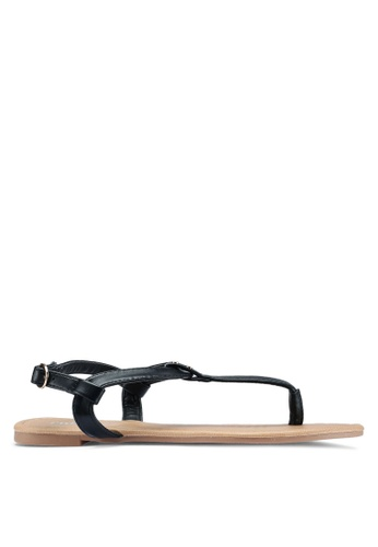 Rubi black Everyday Aubrey Stud Toe Post Sandals AFD00SH9336D51GS_1