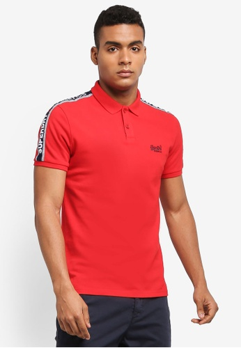 Superdry red SPORTS RETRO S/S POLO 80BD6AA5BD83EAGS_1