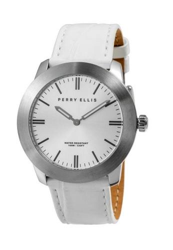 PERRY ELLIS white Perry Ellis Slim Line Unisex 42mm Quartz Watch 07014-01 2DF9DAC97115F6GS_1