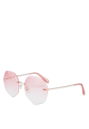 ALDO pink Grilarien Sunglasses/Round 48667GL43F05F3GS_1