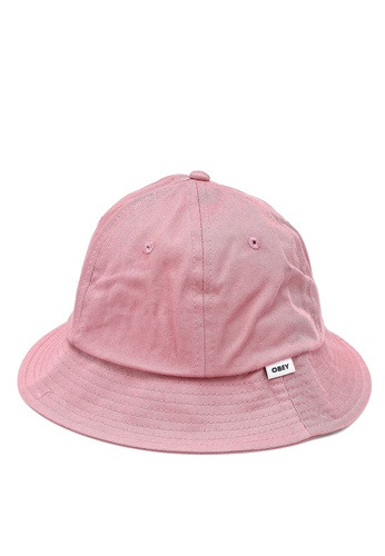 OBEY pink Bold Organic Bucket Hat 99C6EAC157CB0CGS_1