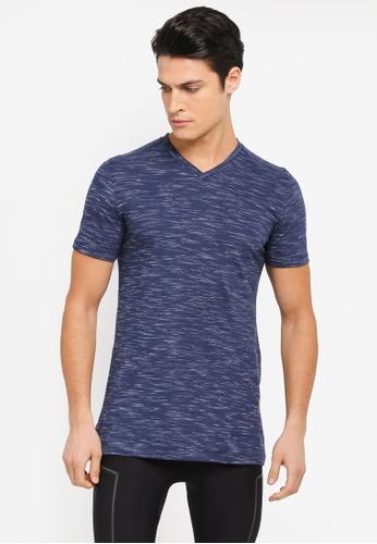 Under Armour blue Sportstyle Core V-Neck T-Shirt UN337AA0SU62MY_1