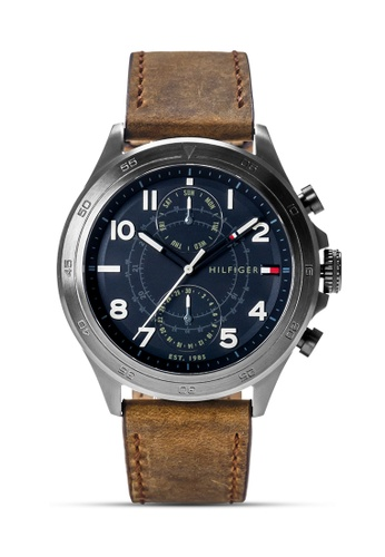 Tommy Hilfiger Watches brown Men's Leather Strap Watch TO959AC0KRC9PH_1