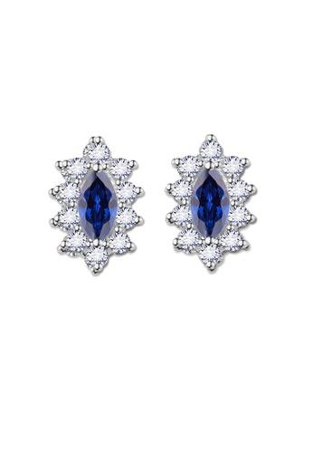 SC Tom Silver silver Crystal Oblong Birthstone Stud Earrings (September) SC872AC0J6HCPH_1