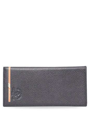Santa Barbara Polo & Racquet Club black Men's Black Genuine Leather Wallet SA244AC01UGWPH_1