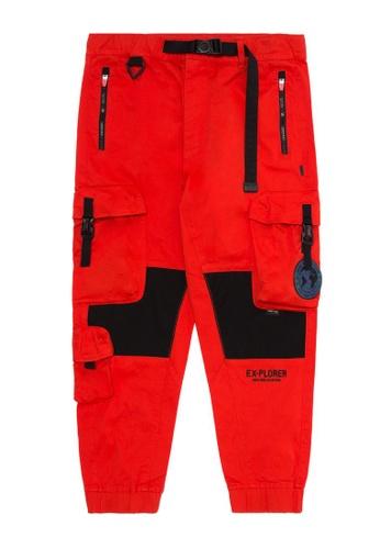 Fingercroxx orange Emblem cargo pants BA0CAAA0D27914GS_1