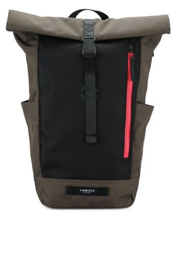 Timbuk2 green Tuck Pack Backpack TI112AC0RFK4MY_1