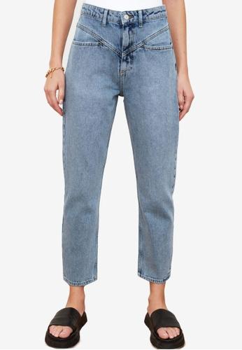 Trendyol blue High Waist Mom Jeans A2B5CAA98DAE6EGS_1