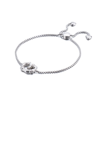 Glamorousky silver Simple and Fashion English Alphabet G 316L Stainless Steel Bracelet 2D90BACE13F58BGS_1