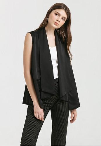c22d6adcfa9fb5 Cloth Inc black Waterfall Vest in Black DC75AAA98710E6GS 1