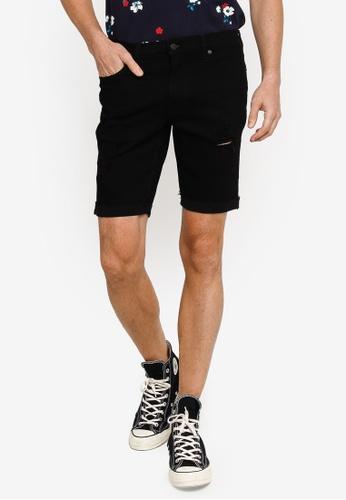 Hollister black Casual Denim Shorts 6353CAAC020B6FGS_1