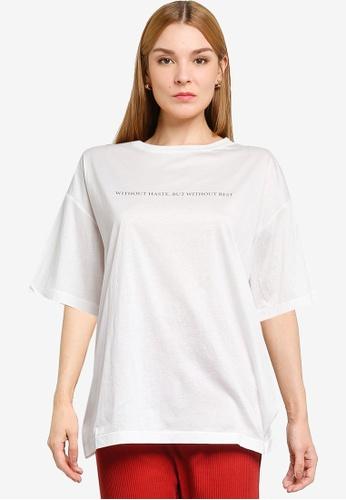 LOWRYS FARM white Short Sleeves Printed Tee CBE80AABC19EDAGS_1
