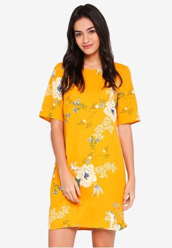 Vero Moda yellow Marty 2/4 Short Dress 47042AAD00C0FDGS_1