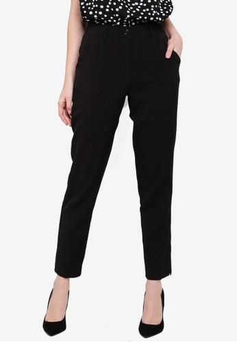 FORCAST black Saylor Crop Notched Pants AA6D6AA6D55A3CGS_1