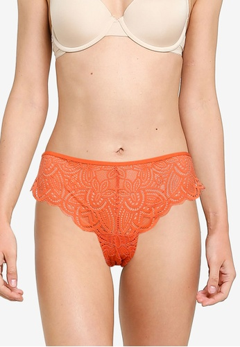 Old Navy orange Olx Lace Cheeky Thong 779FEUSAED49EEGS_1