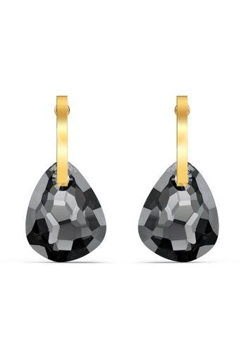 Swarovski 黑色 T Bar Pierced Earrings 265EFAC8B05C77GS_1