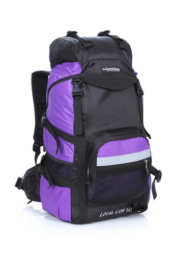 Local Lion purple Local Lion Steel Support Water Resistant Hiking Backpack L STEEL 60L (Purple) LO780SE19SVWMY_1