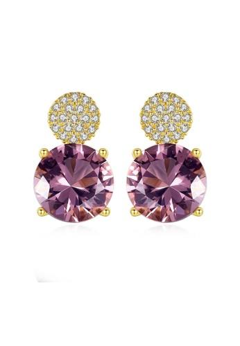 SUNRAIS gold High quality Silver S925 gold fashion earrings 5887BAC1240973GS_1