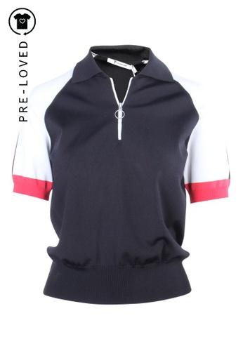 T By Alexander Wang black Pre-Loved t by alexander wang Rayon Jersey Short Sleeve Polo Shirt 52483AACF068E4GS_1