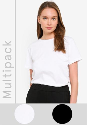 Trendyol multi Black and White 2-pack Crew Neck T-Shirt 665ACAA416EF0CGS_1