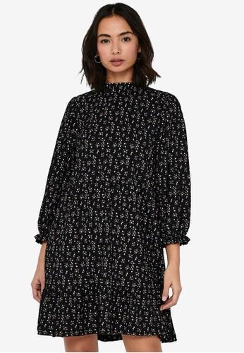 ONLY black Zille Naya 3/4 Highneck Dress C1144AA68D630BGS_1