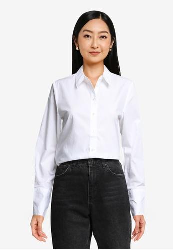 JACQUELINE DE YONG white Ulrikka Long Sleeves Shirt 20C69AAAA51769GS_1