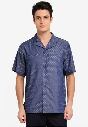 Zalia Homme 藍色 Short Sleeve Resort Shirt 87FF3AAB39E1EDGS_1
