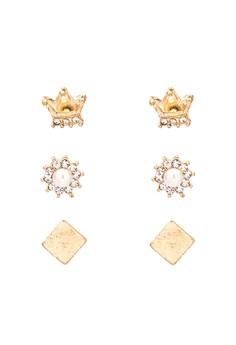 Crown Earring Set
