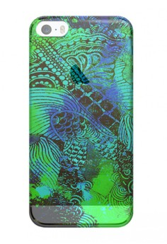 Surreal in Green Transparent Hard Case for iPhone 5, 5s