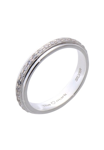 The LoveMark silver Full Eternity Ring with Artificial Diamonds for Men lr0017m TH516AC65VBAPH_1