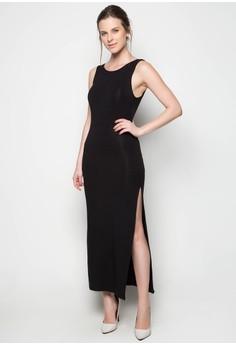 Afrah Maxi Dress Sleeveless Plain