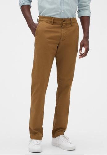Gap brown Essential Khakis in Slim Fit FFC76AA84B13B1GS_1