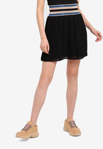 SCOTCH & SODA 黑色 褶飾裙 B7273AA463BF48GS_1
