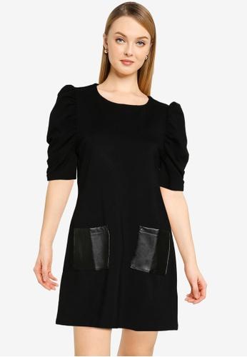 Dorothy Perkins black Black Pocket Tunic C7A21AAEC0163BGS_1