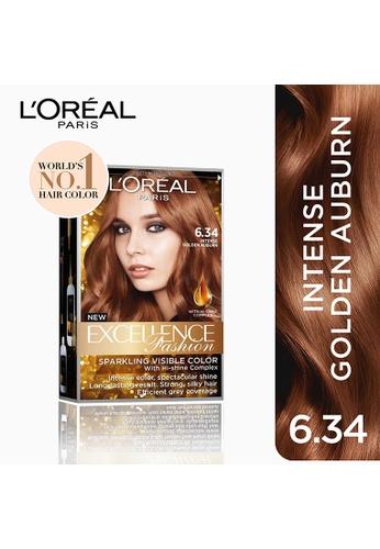 L'Oréal Paris brown Excellence Fashion Auburn 6.34 Intense Golden Auburn LO674BE11NKUPH_1