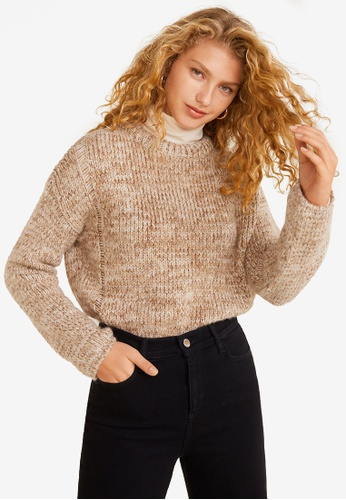 Mango beige Knitted Braided Sweater 75D0FAA962426DGS_1