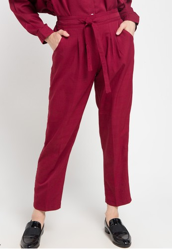Office Hour red Marsita Pant 919FEAA0B15527GS_1
